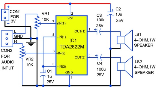 rangkaian elektronika speaker