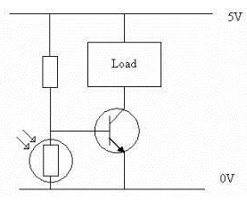 rangkaian Light Dependent Resistor
