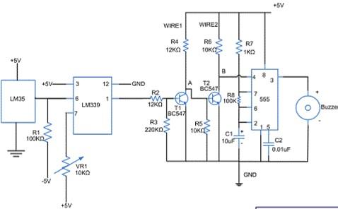 rangkaian sensor suhu