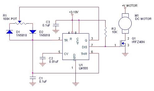 contoh skema pwm motor dc